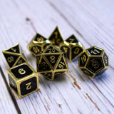 Metal Imperial Black & Gold Dice Set