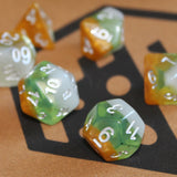 Kiwi Fruit Polymer Dice Set