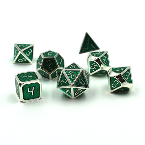 Digital Font Green Dice Set for Dungeons and Dragons