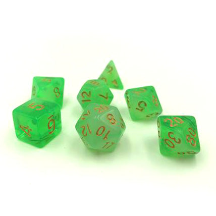 Milk Green Polymer Dice Set