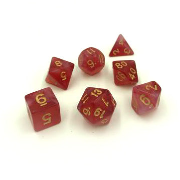 Milk Red Polymer Dice Set