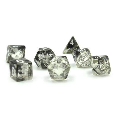 Black Ink Polymer Dice Set