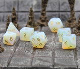 Gemstone Opalite Dice Set for D&D