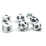 Bold White Polymer Dice Set