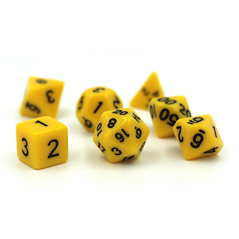 Bold Hornet Yellow Polymer Dice Set