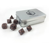 Metal Primordial Copper Dice Set with Box