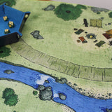 Closeup of Dice Dungeons battle map.