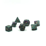 Gemstone Ruby Zoisite Dice Set