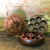 Rose Wood Dice Chest with Magnetic Lid
