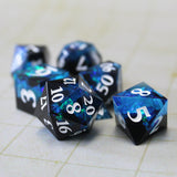 Layered Blue & Black Sharp Edge Resin Dice