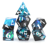 StarSeeker Blue & Black Sharp Edge Resin Dice Set