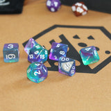 Layered Blue Polymer Dice Set from Dice Dungeons.