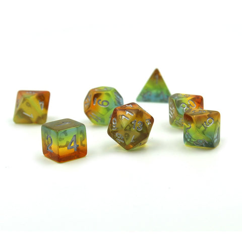 Sunset Yellow Polymer Dice Set