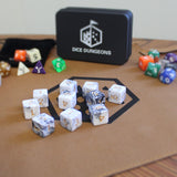 ten six-sided dice from Dice Dungeons