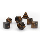 Gemstone Tiger Eye Dice Set