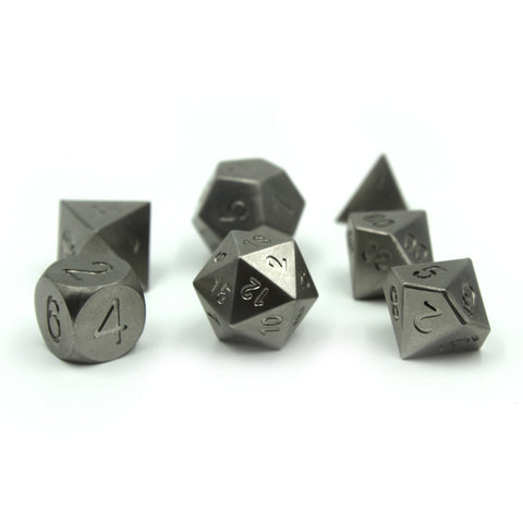 Metal Tungsten Dice Set