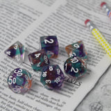 Unknown Land Ribbon Plastic Dice Set on Book