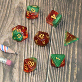 Watermelon Plastic Dice Set on Table