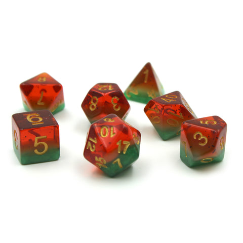 Watermelon Plastic Dice Set for D&D
