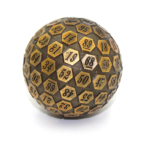 Metal D100 Antique Gold