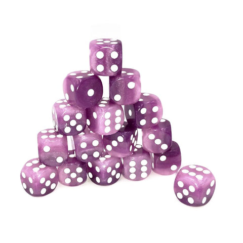 D6 12mm Purple Layer Dice Set