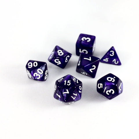 Marble Purple RPG Dice Set