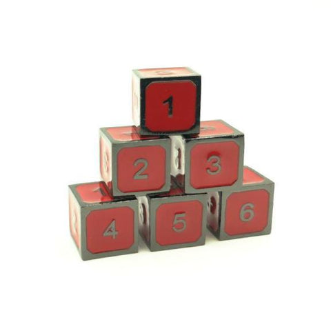 Metal Imperial Red d6 Dice Set