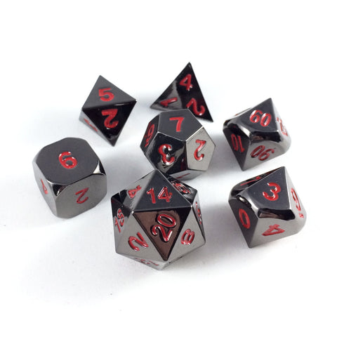 Metal Ember Black Nickel RPG Dice Set