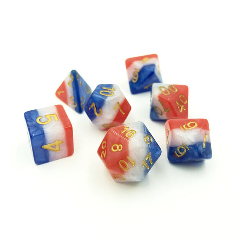 USA American Flag Dice Set for Dungeons and Dragons