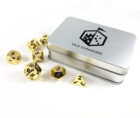Bright Gold Dice Set