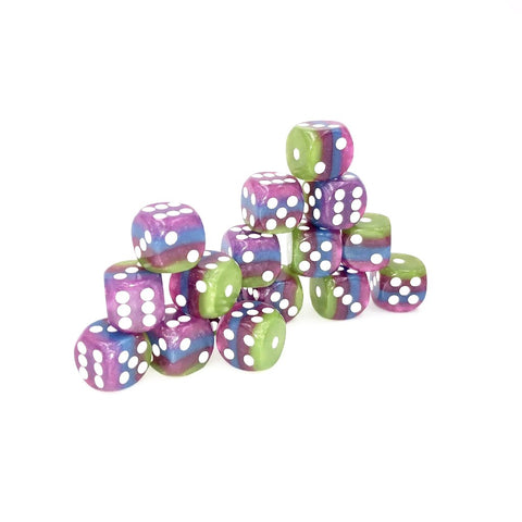 12mm 4-Color Layer Pip d6 Dice Set