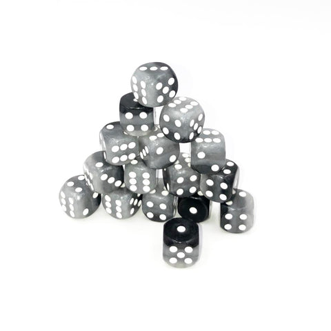 D6 12mm Grey Layer D6 Pips Dice