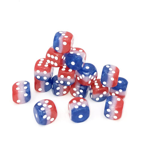D6 12mm US Flag Red, White, & Blue Dice Set