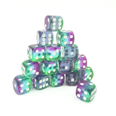 D6 12mm Sunrise Blue Dice Set