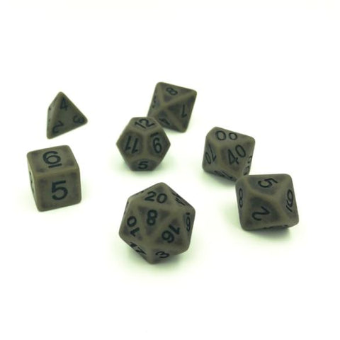 Ancient Cyan Polymer Dice Set