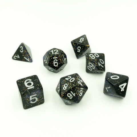 Sparkle Deep Space Polymer Dice Set