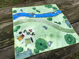 Cloth RPG Battle Map - Roadside Campsite