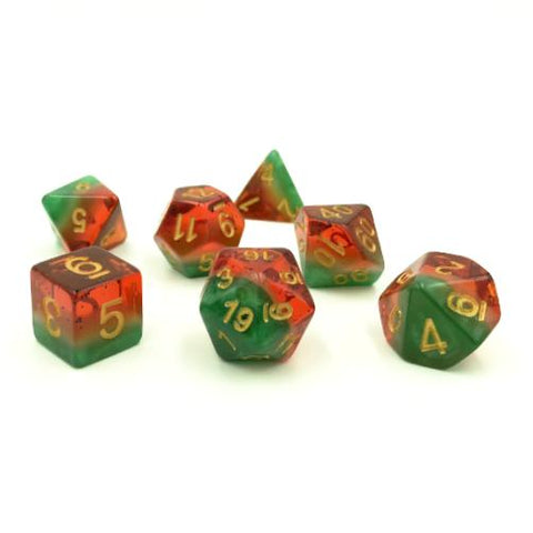 Watermelon Polymer Dice Set