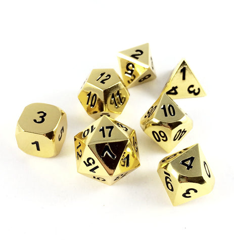 Metal Gold Dice Set