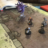Cloth RPG Ruined Temple Battle Map for Dungeons and Dragons