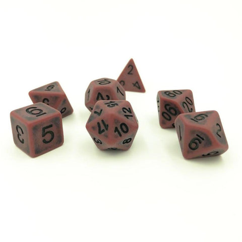 Ancient Red Polymer Dice Set
