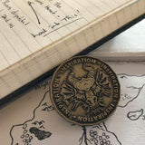 Inspiration Coin with Dragon for D&D