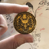 Inspiration Coin for Dungeons and Dragons, Size Comparison