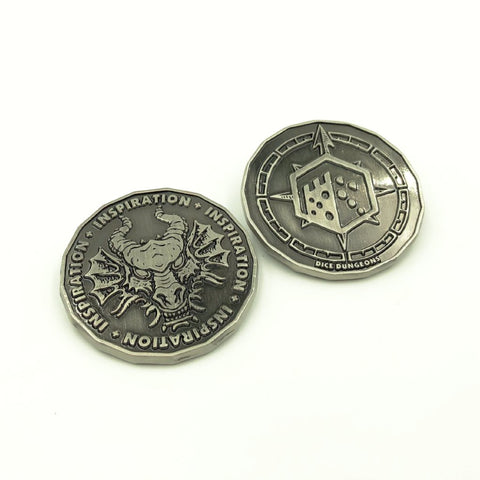 Antique Silver Inspiration Coin Tokens