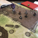 "Cloth RPG Ruined Temple 1"" Battle Map for Dungeons and Dragons"