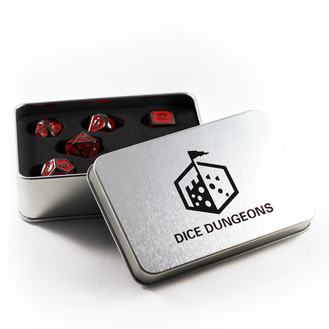Imperial Red Dice Set for Bards
