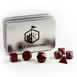 Metal Imperial Red Dice Set with Display Box