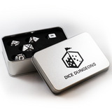 Metal Imperial White Dice Set with Display Box