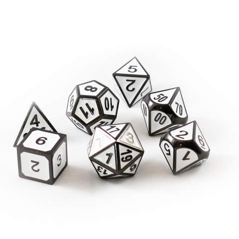 Dice Dungeons Metal White Dice