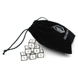 Metal Imperial White d6 Dice Set